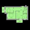 Мініатюра об'єкта 2-кім. квартира, 1 поверх