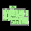 Мініатюра об'єкта 2-кім. квартира, 4 поверх