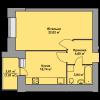 Мініатюра об'єкта 1-кім. квартира, 4 поверх