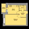 Мініатюра об'єкта 1-кім. квартира, 6 поверх