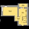 Мініатюра об'єкта 1-кім. квартира, 2 поверх
