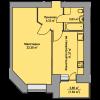 Мініатюра об'єкта 1-кім. квартира, 9 поверх