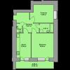 Мініатюра об'єкта 2 кім. квартира, 1 поверх