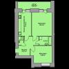 Мініатюра об'єкта 2-кім. квартира, 9 поверх