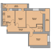 Мініатюра об'єкта 3-кім. квартира, 3 поверх