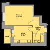 Мініатюра об'єкта 1-кім. квартира, 1 поверх