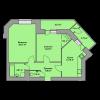 Мініатюра об'єкта 2-кім. квартира, 2 поверх