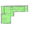 Мініатюра об'єкта 2-кім. квартира, 3 поверх