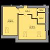 Мініатюра об'єкта 1-кім. квартира, 8 поверх