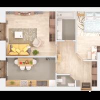 """Мініатюра - Пропонуємо Вам ознайомитися з візуалізацією квартир другої черги ЖК """"КОМФОРТ ТАУН ПЛЮС"""""""
